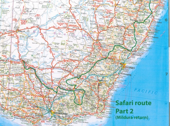 Safari route, part 2