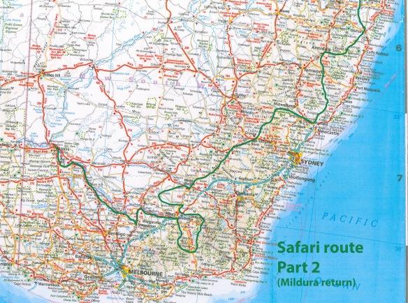 Safari route, part 2